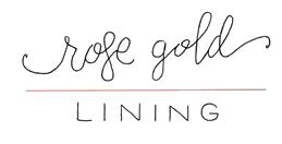 rose gold lining logo